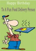 Food Delivery Person - Greeting Card